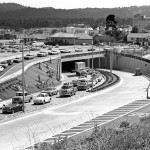 Traffic flows through the Custom House tunnel in Monterey after being dedicated by mayor Minnie Coyle on April 5, 1968.  (Monterey County Herald archives)