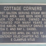 A duplicate Cottage Corners marker placed on The Cottage building